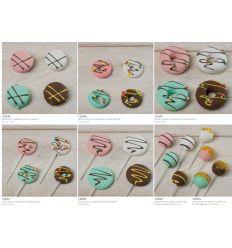 Lecca lecca pallina piccola con praline in polistirolo linea Candy (130392)