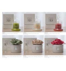 candela con cupolina in vetro con scatola linea Fragranza (A1001-10)
