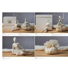 Ballerina media in porcellana in 2 posizioni assortite (P7302)