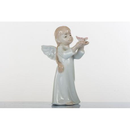 ANGELO FEMMINA CON FARFALLA H 12 CM (D7714)