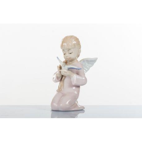 ANGELO SEDUTO FEMMINA COLOMBA H 9CM (D7711)